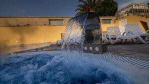 Concentración de salinidad en piscinas de agua salada